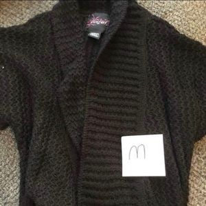 Confess Medium Black Sweater